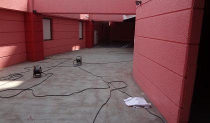 名古屋市・ホテル駐車場 塗床工事