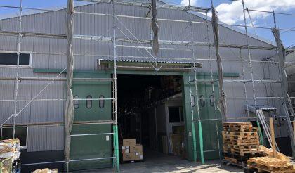 名古屋市・部品倉庫 外壁塗装